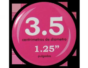 Botón Circular 3.5 cm