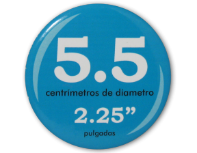 Botón Circular 5.5 cm