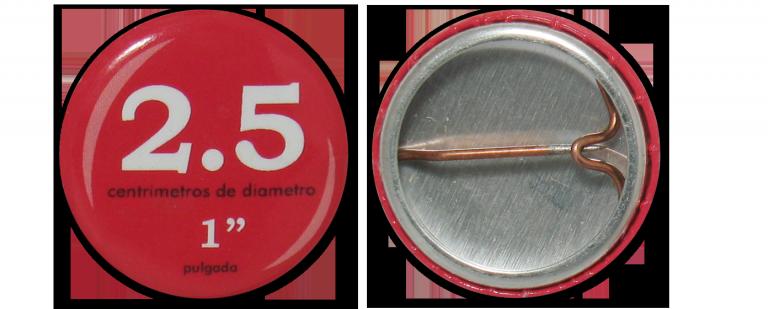 Botón Circular 2.5 cm