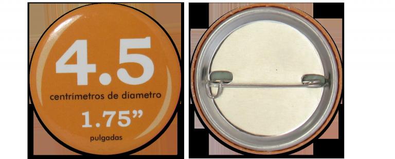 Botón Circular 4.5 cm