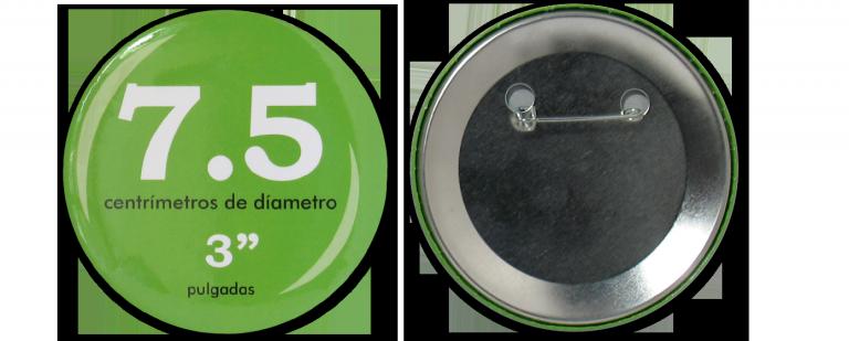 Botón Circular 7.5 cm