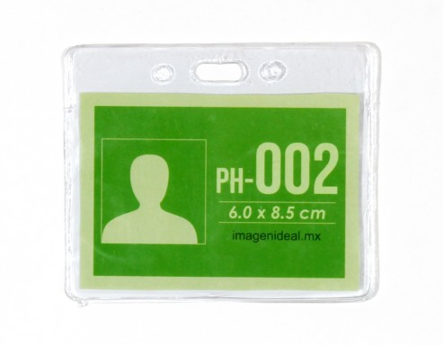 [PH-002] Portagafete vinil 8.5 x 6