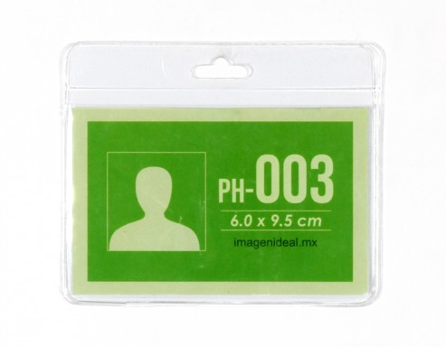 [PH-003] Portagafete vinil 9.5 x 6