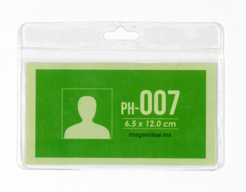 [PH-007] Portagafete vinil 12 x 6.5