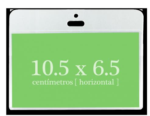 Portagafete Acrílico 10.5 x 6.5