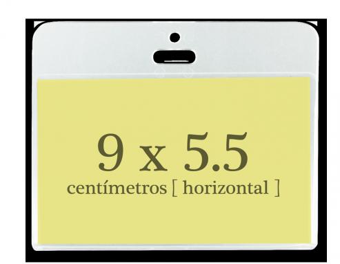 Portagafete Acrílico 9 x 5.5