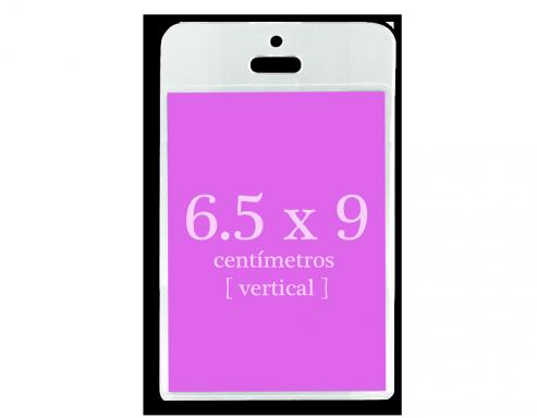 Portagafete Acrílico 6.5 x 9