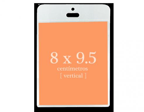 Portagafete Acrílico 8 x 9.5