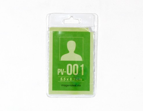 [PV-001] Portagafete Vinil 5.5 x 8.3