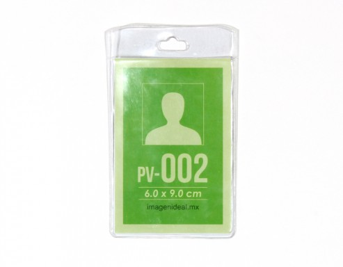 [PV-002] Portagafete vinil 6 x 9