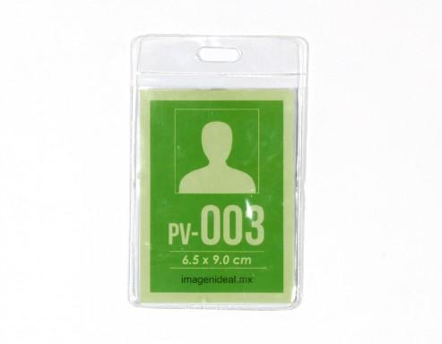 [PV-003] Portagafete vinil 6.5 x 9